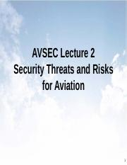 AVSEC 2 Security Threats and Risks for Aviation Rev01 - student notes.pdf