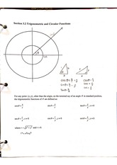3.2 Trigonometric and circular functions