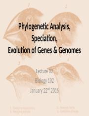 Notes 2- Phyneology and speciation
