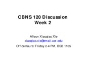 CBNS120 discussion 2