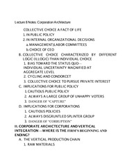 Lecture 8 Notes Corporation Architecture