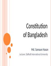 Lecture 10 Bangladesh Constitution.ppt