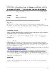 COIT20263 Information Security Management_Assignment 4