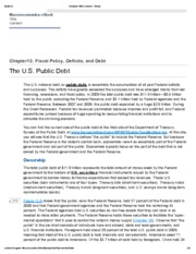 6. The US Public Debt