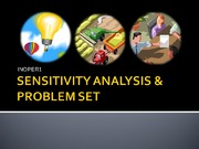 SENSITIVITY ANALYSIS (revised)