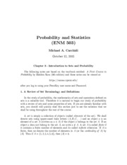 COURSE EDITION FIRST A PROBABILITY IN NINTH