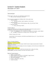 Lecture 8 – Lecture Notes Content Analysis.docx