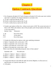 Chapter 5 - Option Contracts  - Questions