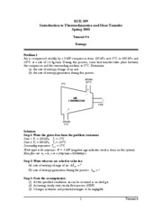 Introduction to Thermodynamics and Heat Transfer TUT 6