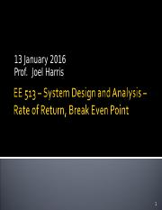 EE 513  13 January Lecture.ppt