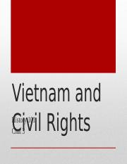 History 101 Chat 3 Vietnam and Civil Rights1.ppt