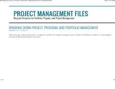 Breaking Down Project, Program, and Portfolio Management _ Project Management Files
