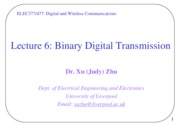 Lecture06_Binary Digital Transmission