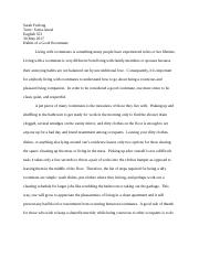 How to Be a Good Roomate; Expository Essay