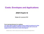 Lecture 18 - costs
