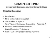 Chapter 2 Handouts 2011 Investment with Certainty