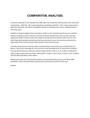 COMPARITIVE ANALYSIS