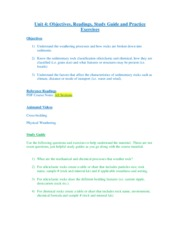 Unit 4 Weathering Study Guide