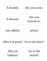 Chez Nous Prechapter Flashcards
