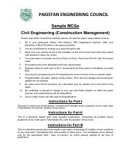 Civil Engineering (Construction Management)