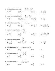 worksheet 1 - Name Worksheet 1 FIND THE VALUE OF EACH ...