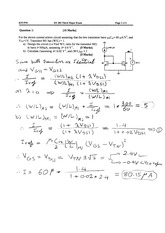Third Major Exam 042 (Solutions)