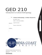 GED 210 - Cultural Anthropology (Study Guide).docx
