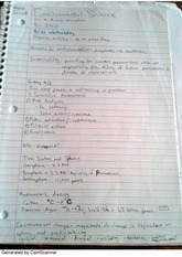 Introductory Environmental Biology Notes
