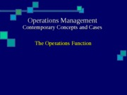 1 - The Operations Function