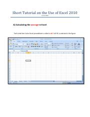 Excel 2010 Tutorial rev 1