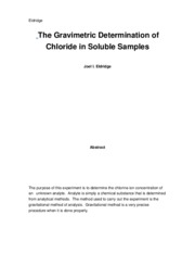 The Gravimetric Experiment (lab 2)