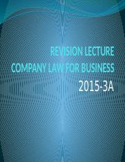 REVISION LECTURE 2015-3A