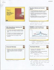 Financial Markets Notes