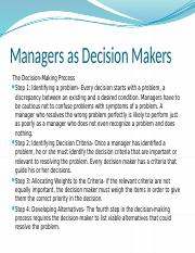 Managers_As_Decision-Makers_MGT_201_Spring 2016
