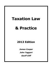 2013 Income Tax Workbook