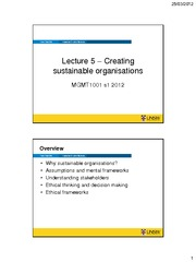 Topic 5 - Sustainability handout