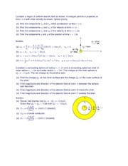 Test One Problems (Electric Field and Charge)
