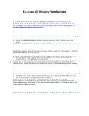 Sources Of History Worksheet.docx