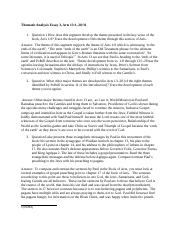 thematic analysis of the book of acts Thematic analysis essay 2, acts 8:1–12:25 in an essay of at least 875 words, analyze the thematic development of this second movement of the book of acts.