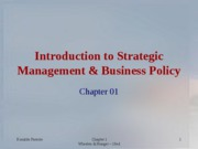 Ch 01 strategcic management