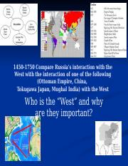 Interaction with the West 1450-1750.pptx