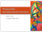 8 - Phys. Self - Genetics and Environment