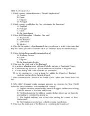HIST A170 Quiz  Ch2.docx