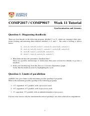 Week 11 - Synchronisation and Atomics.pdf