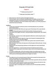 Geography 105 Study Guide (Chapter 2).pdf