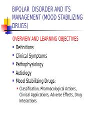 BIPOLAR  DISORDER AND ITS MANAGEMENT.ppt