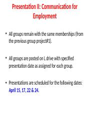 Guidelines.Group.Presentation#2.Communication.Employment..ppt