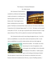 The Colosseum Essay