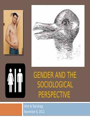 Gender and the Sociological Perspective 2(1)