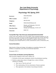 psych 165 green sheet sp 10